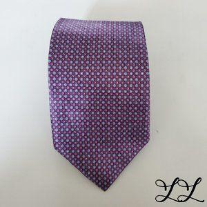 Jos A. Bank Tie Blue Purple All Silk Geometric
